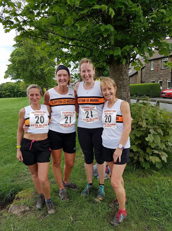 Clayton Ladies at the Calderdale Way Relay