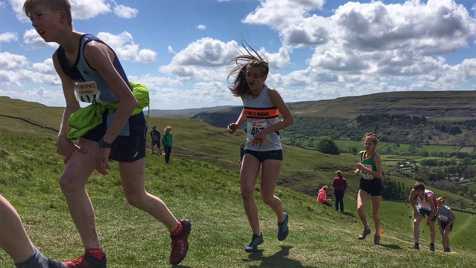 Briony Holt in the U17 race. Photo by Alan Dorrington