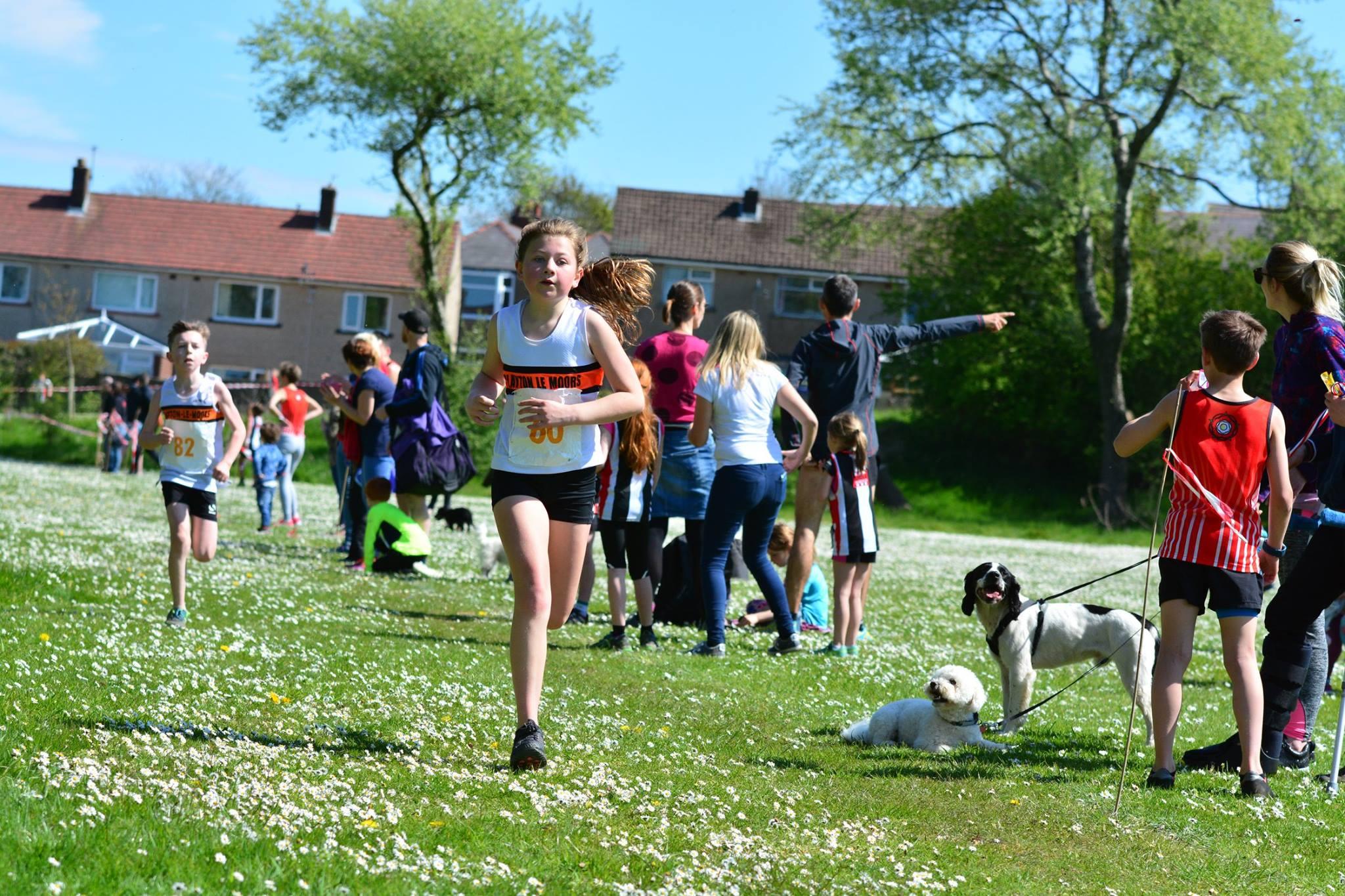 Imogen Ferguson powering to the finish. Photo by David Belshaw