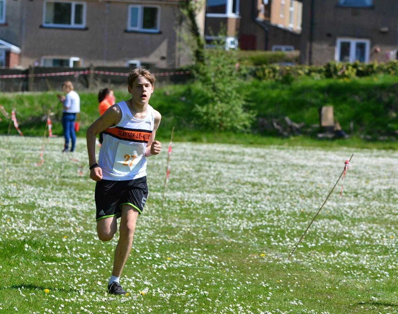 Michael Stevens in the U15 Race. Photo by David Belshaw
