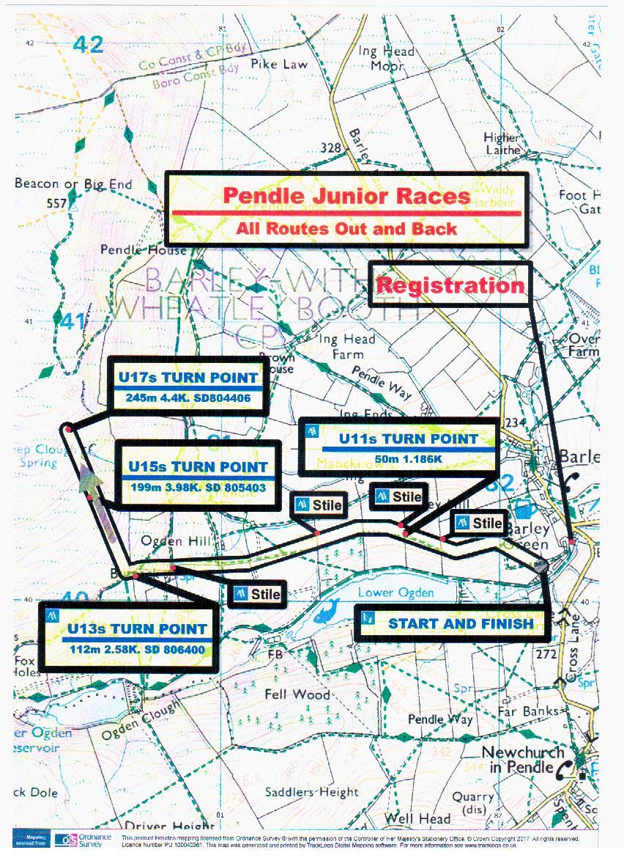 Pendle Junior Routes