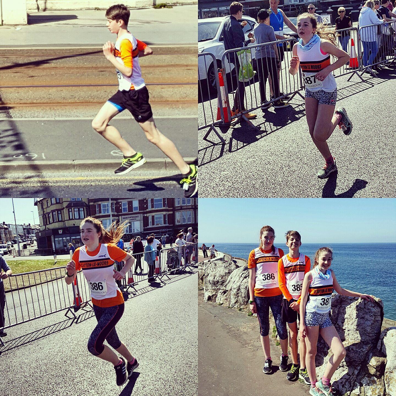 Team Stevenson in action at Beaverbrooks' Blackpool 10K. Photos by Deborah Stevenson