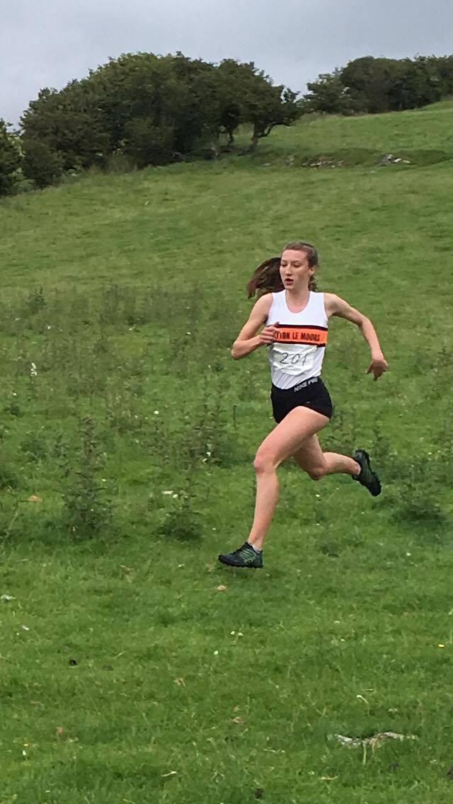 Briony in the U17 race