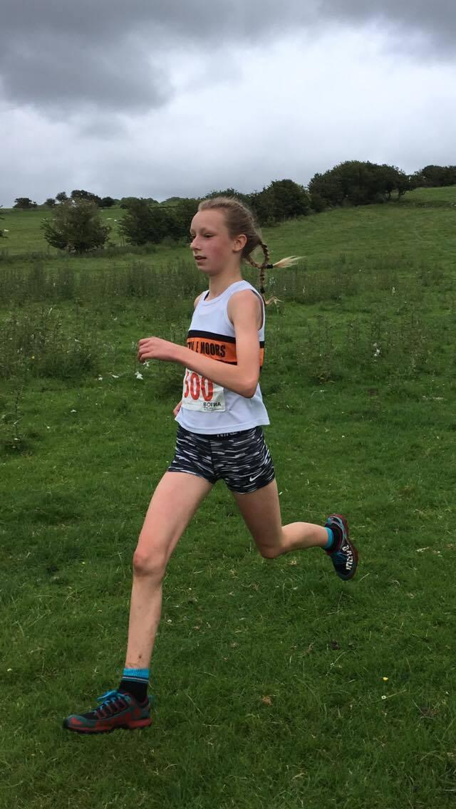 Ella Dorrington in the U15 race