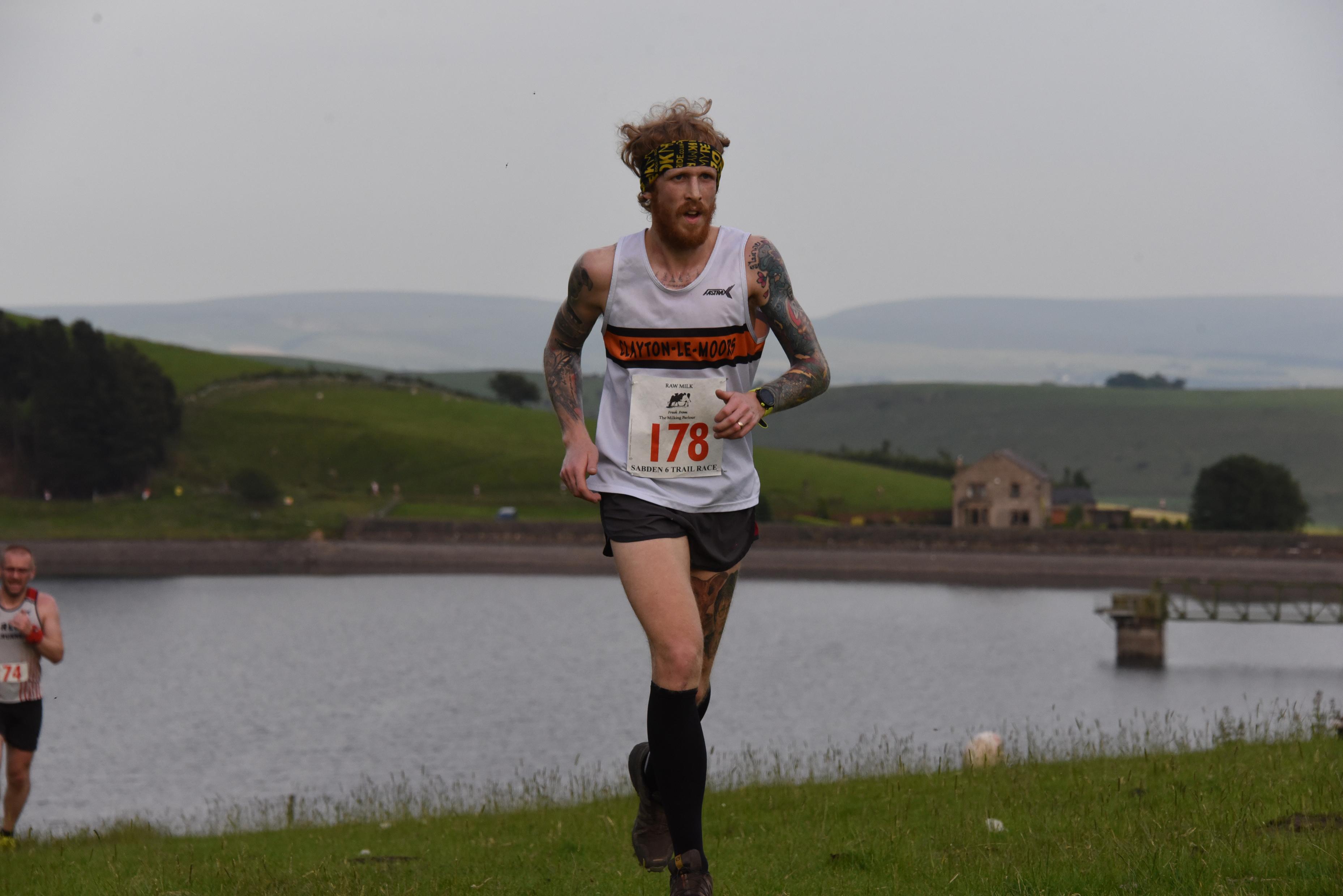 Luke Turner - first Clayton finisher. Photo by SportSunday