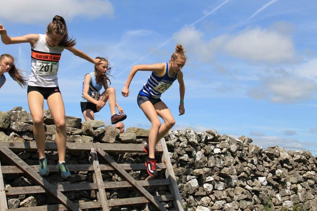 Briony olt scaling the Cracoe wall. Photo: Carolyn Brett Muir