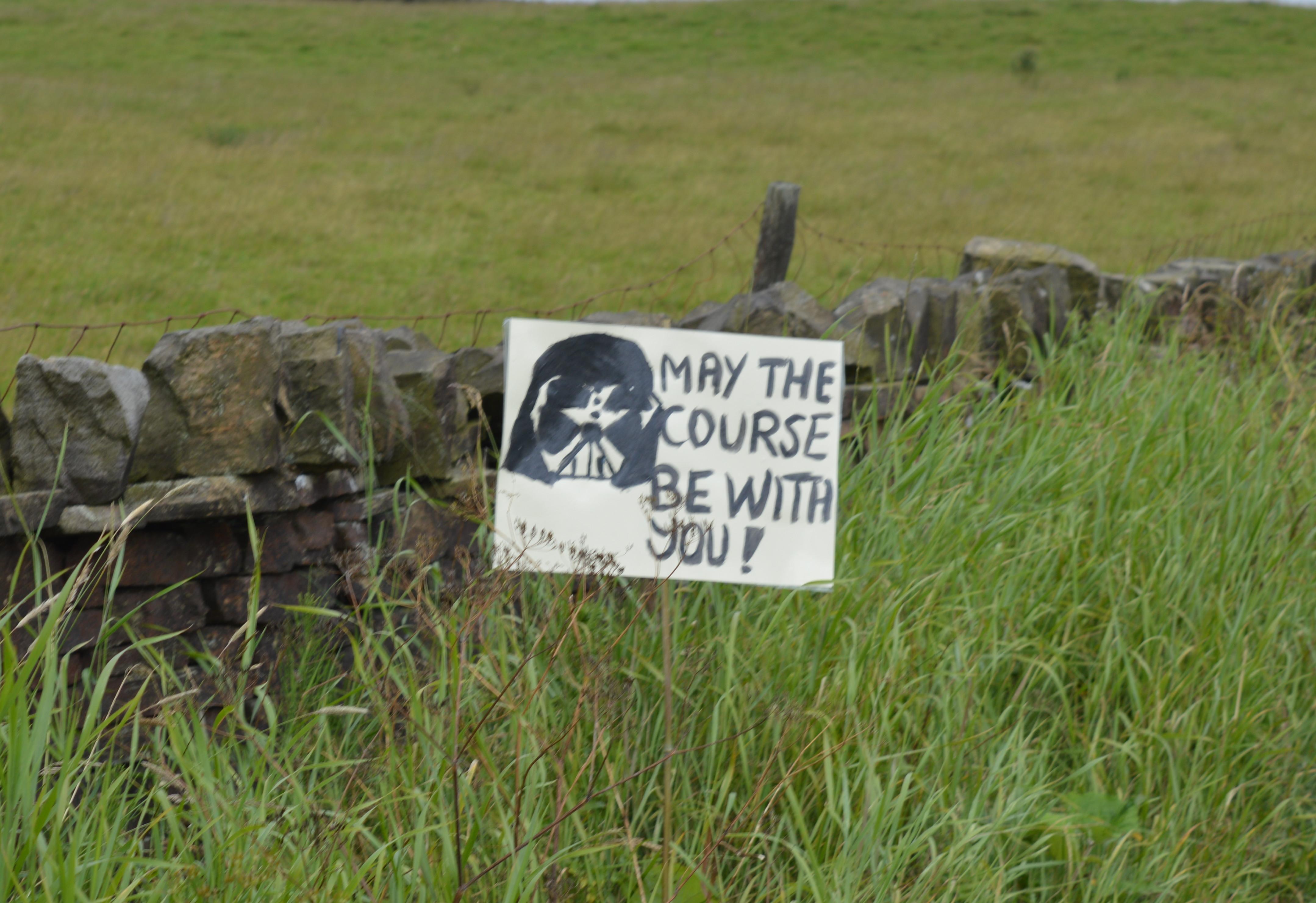 Inspirational signs at Caldwell. Photo by Adrienne Olszewska