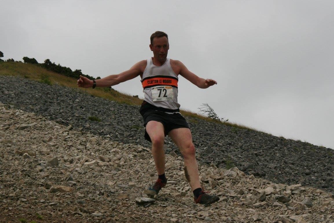 Richard Briscoe at the Farleton Knott fell race. Photo by Geoff Thompson