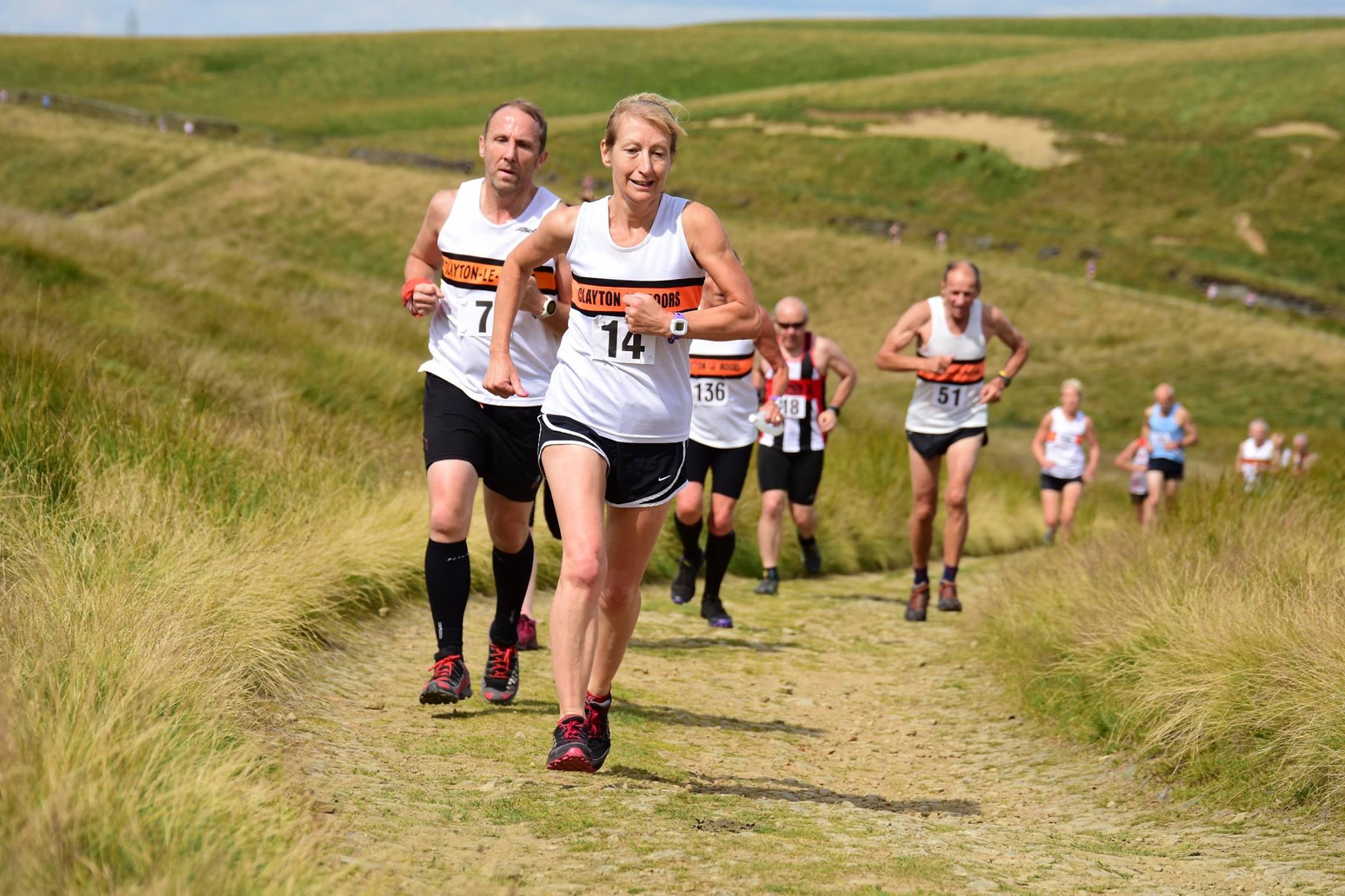 Worsthorne Moor race. Photo by David Belshaw