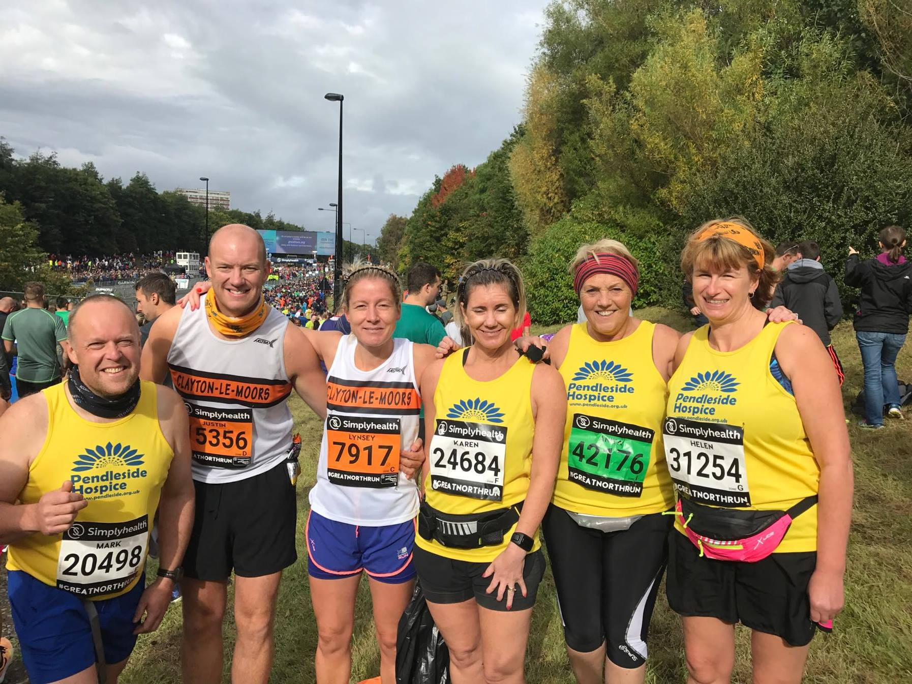 Team Clayton at the Great North Run