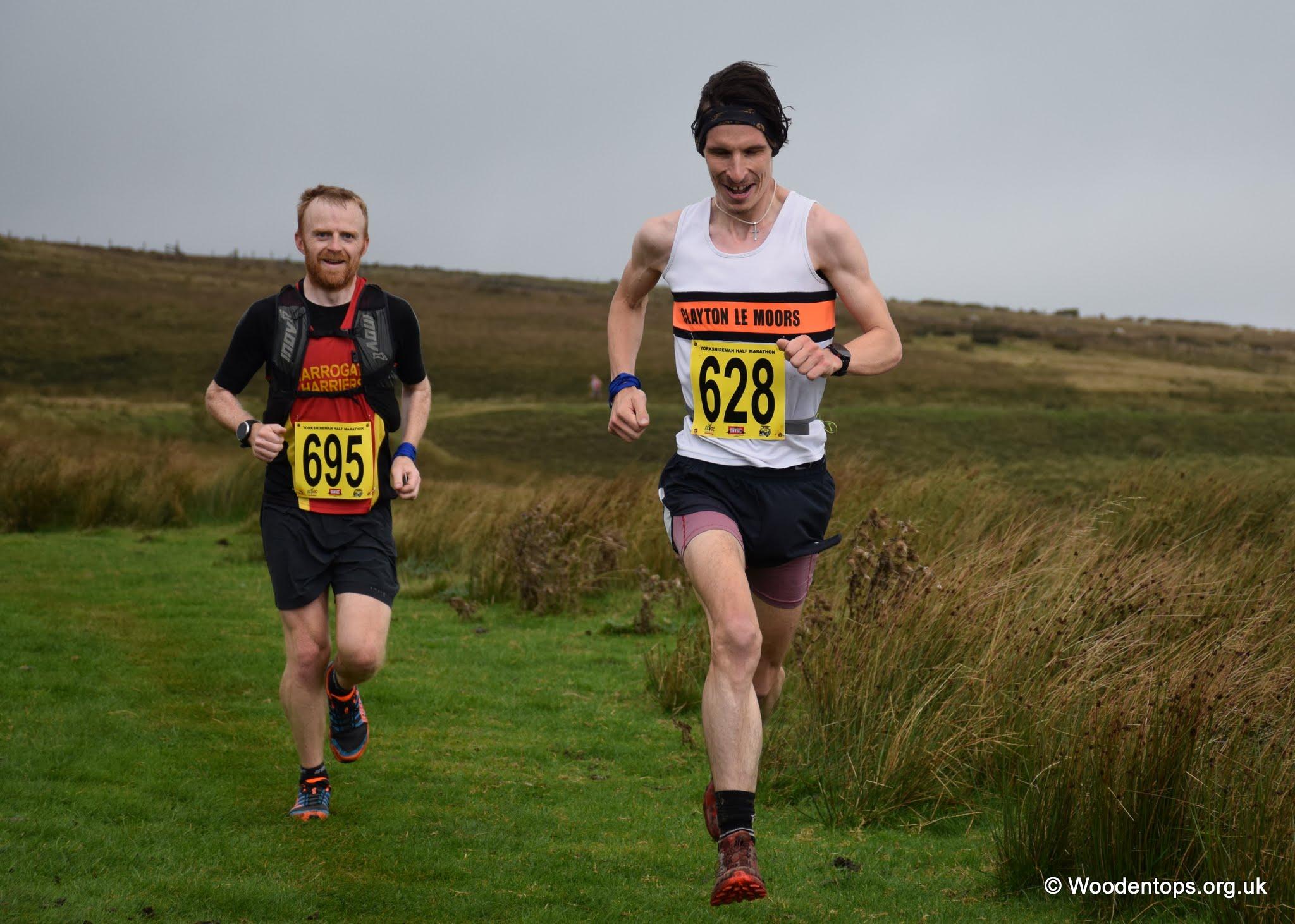 Christopher Holdsworth at the Yorkshireman Half Marathon. Photo by Woodentops