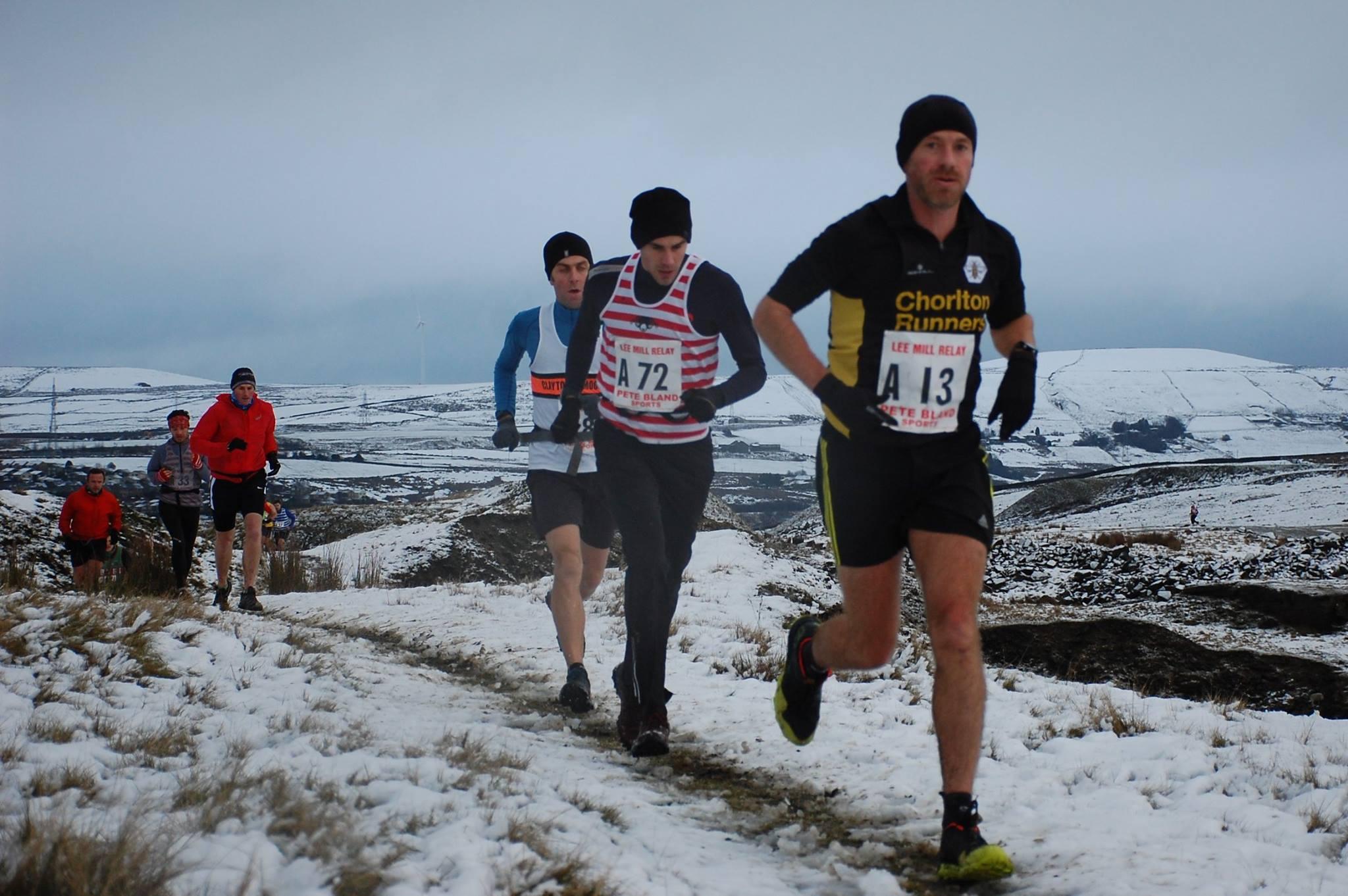 Carl Helliwell blazes a trail on Leg 1. Photo: mick Fryer