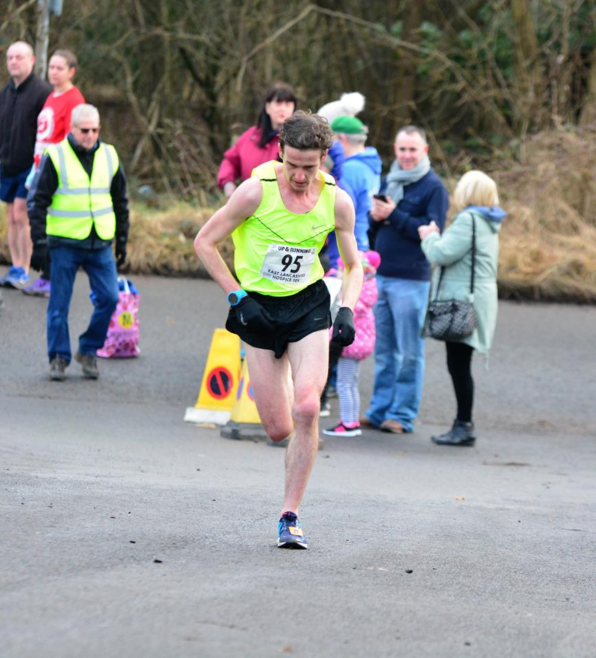 Your winner! Danny Collinge. Photo: David Belshaw