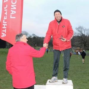Dave Scott, Lancashire Cross Country VM75 Champion. Photo: Donna Airey