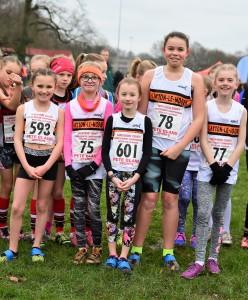 U11 Girls' Team (L-R Lottie Smith, Emily Nicholls, Phoebe Jackson, Ellissia Smedley, Eliena Lusty). Photo: David Belshaw
