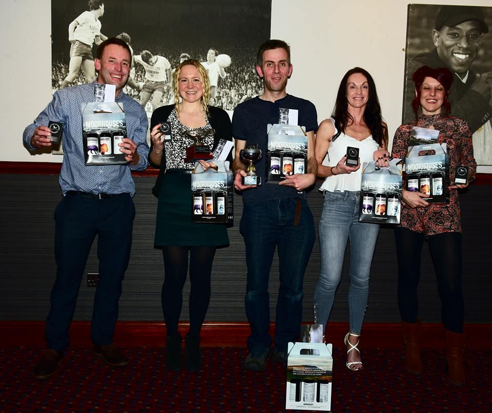 Club Fell Championship Award Winners 2018. Photo David Belshaw