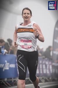 Jane Hylands -1st Female V45. Photo by Asics Race on Track